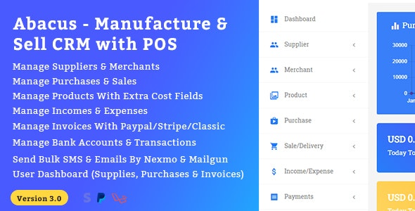 Abacus - Manufacture & Sale CRM with POS - CodeCanyon Item for Sale