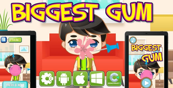 Biggest Gum - Html5 Game (CAPX) - CodeCanyon Item for Sale