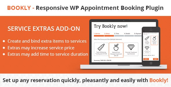 Bookly Service Extras (Add-on) - CodeCanyon Item for Sale