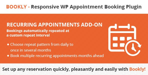 Bookly Recurring Appointments (Add-on)