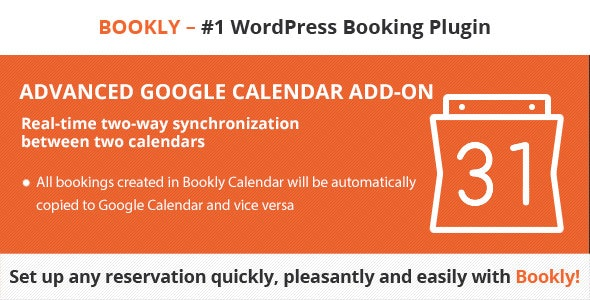 Bookly Advanced Google Calendar (Add-on) - CodeCanyon Item for Sale