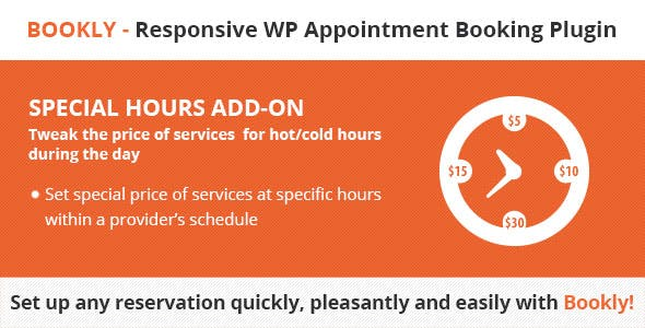 Bookly Special Hours (Add-on)