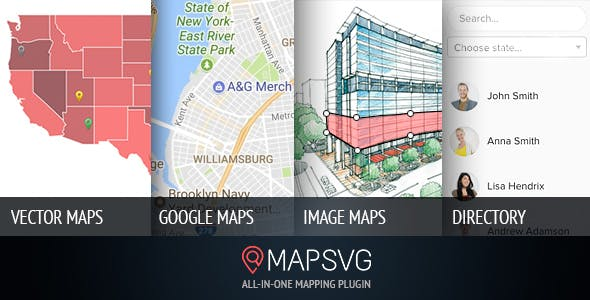 MapSVG: the last WordPress map plugin you'll ever need: Interactive Vector / Image / Google Maps