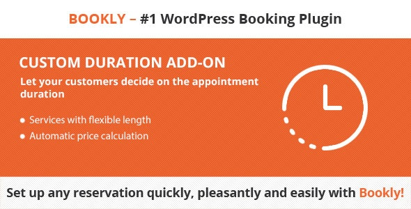 Bookly Custom Duration (Add-on) - CodeCanyon Item for Sale