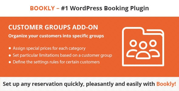 Bookly Customer Groups (Add-on) - CodeCanyon Item for Sale