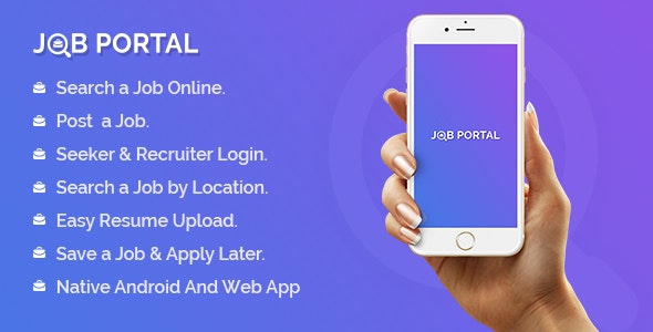 Job Portal Mobile Application With Web Portal by