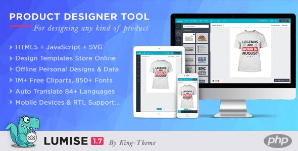Lumise Product Designer Tool - PHP Version