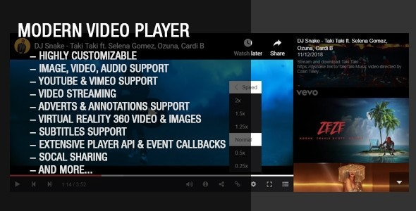Modern Video Gallery Player by Tean | CodeCanyon