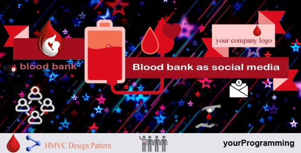 Blood bank management as social media