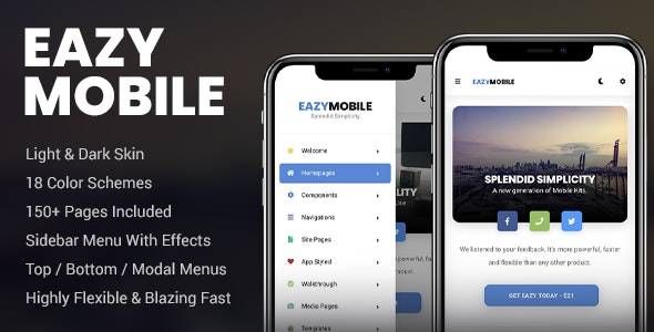 Eazy Mobile | PhoneGap & Cordova Mobile App - CodeCanyon Item for Sale