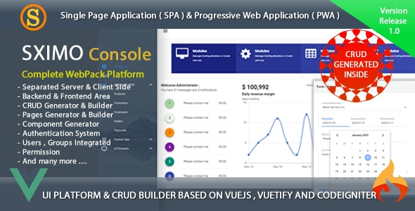 Web and Mobile Development Tools - Sximo Console by mangopik