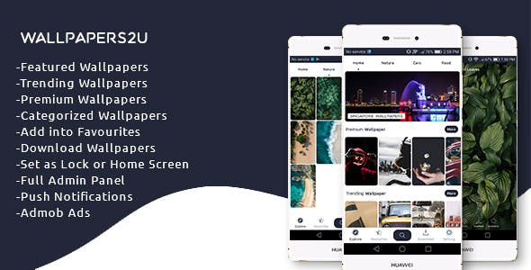 Wallpapers2u - Complete Wallpaper app with Admin Panel