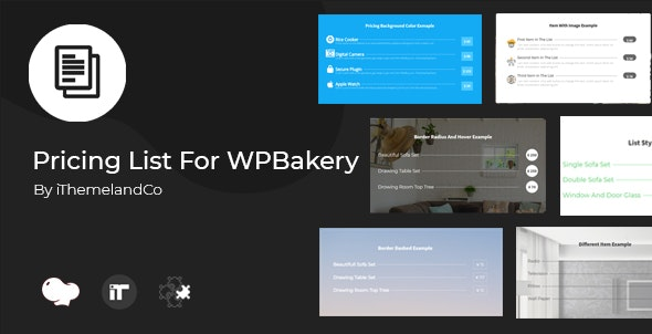 Pricing List For WPBakery Page Builder (Visual Composer) - CodeCanyon Item for Sale