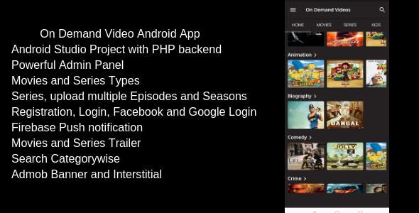 Android Video App Plugins, Code & Script from CodeCanyon