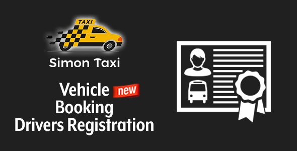 Simontaxi – Vehicle Booking Drivers Registration - CodeCanyon Item for Sale