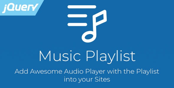 Music Playlist - jQuery Audio Player with Playlist - CodeCanyon Item for Sale
