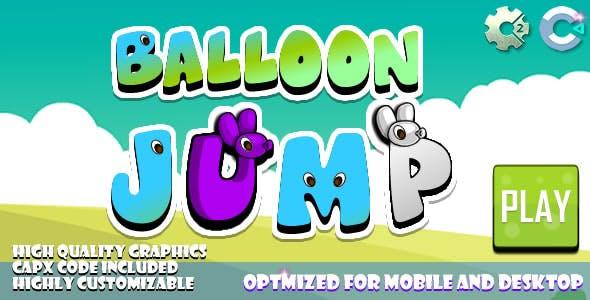 Balloon Jump (C2,C3,HTML5) Game.