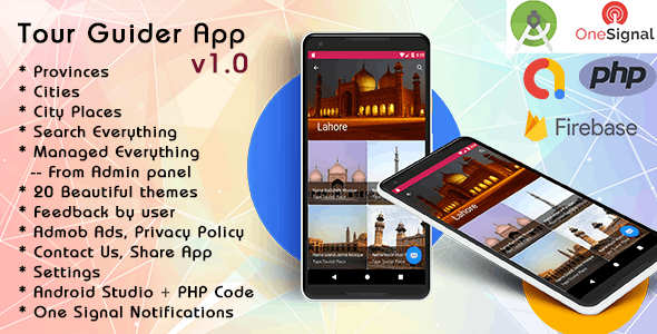 Tour Guider App with Material Design v1.0