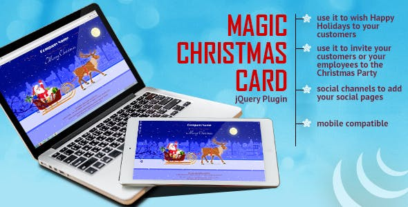 Magic Christmas Card With Animation