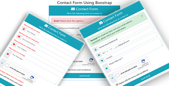 Asp.net Contact Form Using Boostrap