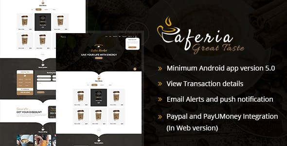 Caferia - Restaurant Food Order and Delivery Web and Mobile App