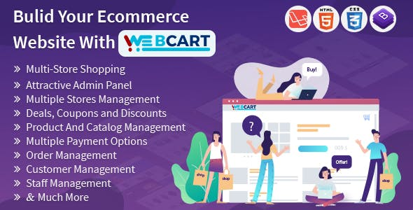 Web-cart -Multi Store eCommerce Shopping Cart Solution