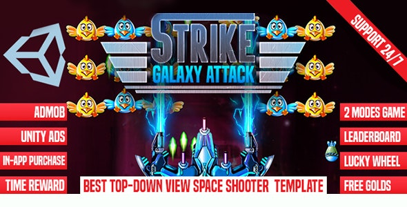 Strike Galaxy Attack- Unity Template - CodeCanyon Item for Sale