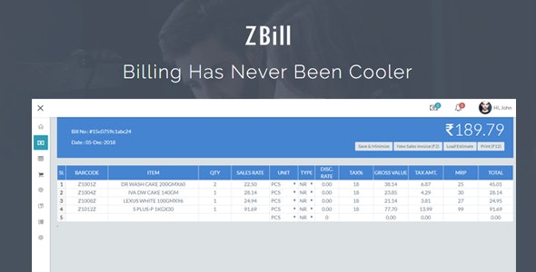 ZBill Retail & Wholesale Billing Software - CodeCanyon Item for Sale