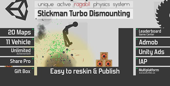 Stickman Turbo Dismounting- Unity Template