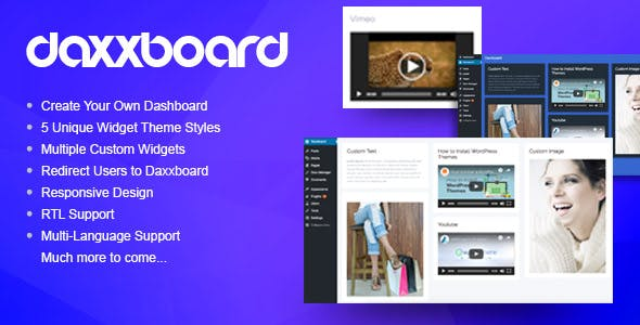 Daxxboard - WordPress Custom Dashboard Creator