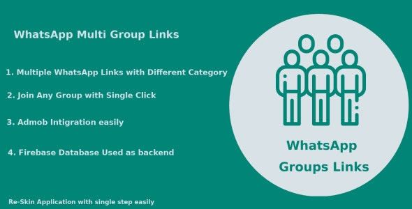 Whats App Multi Group Links - Android Native Code by