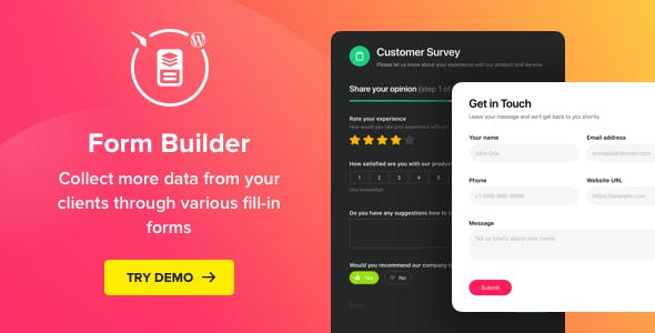 Form Builder - WordPress Form plugin