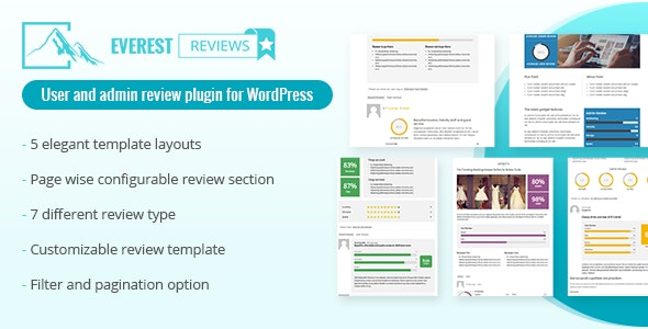 Everest Review - Post / Page / Custom post type Review plugin for WordPress by User and admin - CodeCanyon Item for Sale