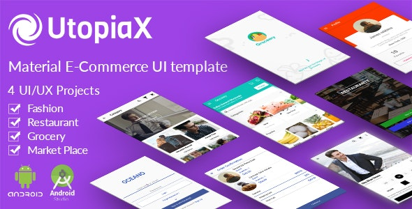 UtopiaX - Android MaterialE-Commerce UI Template