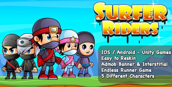 Surfer Riders + Unity Games + IOS + Android