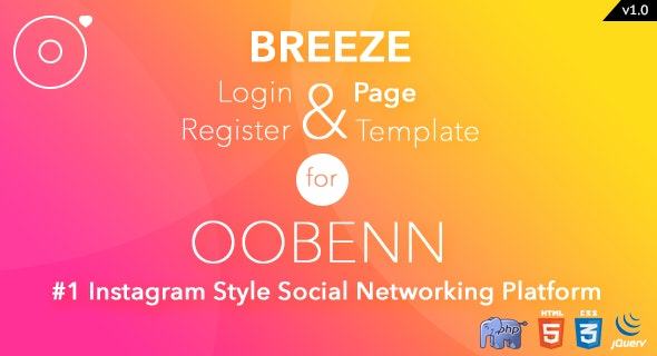 Breeze PHP Login & Register Page Template for oobenn - CodeCanyon Item for Sale
