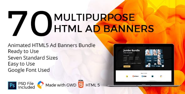 10 Animated HTML5 Ad Banners Bundle