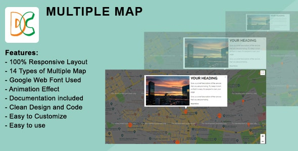 Multiple Google Map Location - CodeCanyon Item for Sale
