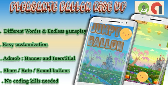 Rise Up Funny Ball - Android Studio + Admob + Buildbox Project - CodeCanyon Item for Sale