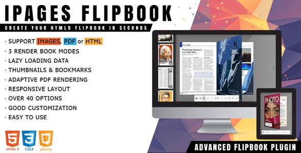 Ipages Flipbook Jquery Plugin By Avirtum Codecanyon