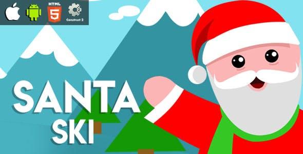 Santa Ski - HTML5 Game (CAPX)