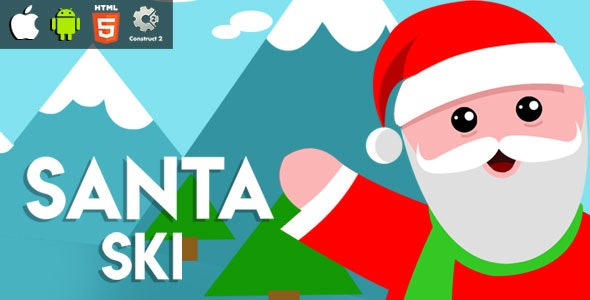 Santa Ski - HTML5 Game (CAPX) - CodeCanyon Item for Sale