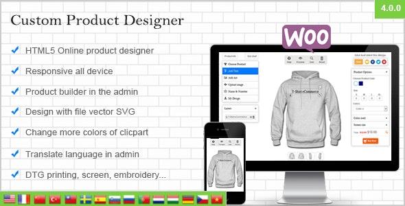 WooCommerce Custom Product Designer by dangcv | CodeCanyon