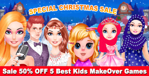 Top Kids Best 5 Makeover Game + Ready For Publish + Android - CodeCanyon Item for Sale