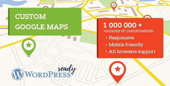 Awesome Google maps for WordPress - 100% fully customizable.
