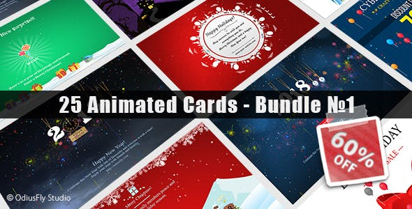 25 Animated Cards - Bundle №1