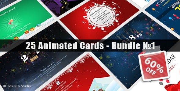25 Animated Cards - Bundle №1