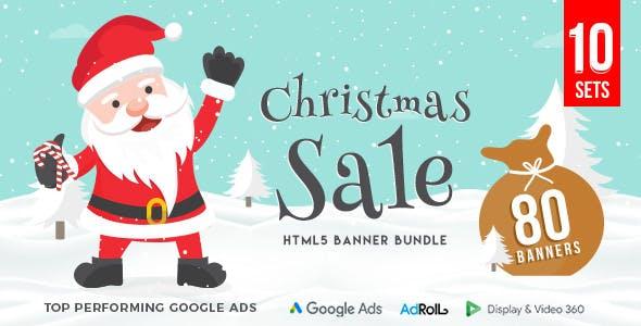 Christmas HTML5 Banner Bundle - 80 Banners