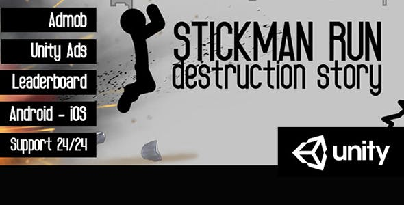Stickman Run Game- Unity Template
