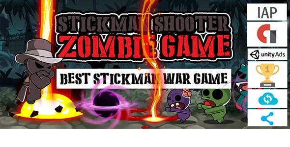 Stickman Shooter Zombie Game- Unity Template